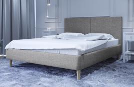 Łóżko tapicerowane SINTRA szare sawana