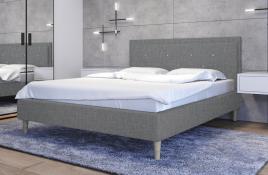 Łóżko tapicerowane SANTANA szare sawana