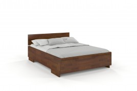 Łóżko drewniane sosonowe z pojemnikiem BERAM orzech