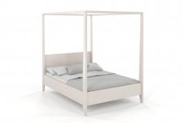 Łóżko drewniane sosnowe KLARA biały