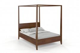 Łóżko drewniane sosnowe KLARA orzech