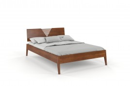 Łóżko drewniane bukowe KAJA orzech