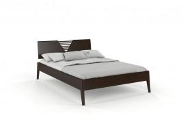 Łóżko drewniane sosnowe KAJA palisander