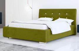 Łóżko tapicerowane ALMADA zielone casablanca