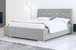 Łóżko tapicerowane ALMADA szare casablanca