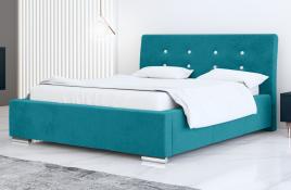 Łóżko tapicerowane ALMADA niebieskie casablanca