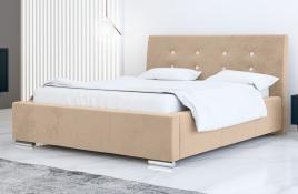 Łóżko tapicerowane ALMADA ecru casablanca