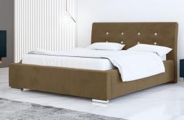 Łóżko tapicerowane ALMADA beżowe casablanca