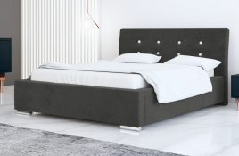 Łóżko tapicerowane ALMADA ciemnoszare casablanca