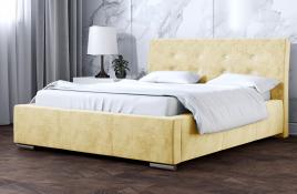 Łóżko tapicerowane ALMADA ecru monolith