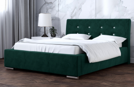 Łóżko tapicerowane ALMADA zielone monolith