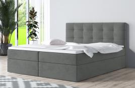 Łóżko kontynentalne ASKIM szare casablanca