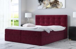 Łóżko kontynentalne ASKIM czerwone monolith