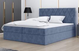 Łóżko kontynentalne ATIMA niebieskie monolith