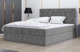 Łóżko kontynentalne ATIMA szare monolith