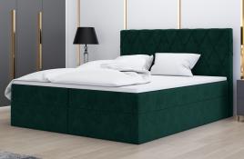 Łóżko kontynentalne ATIMA zielone monolith