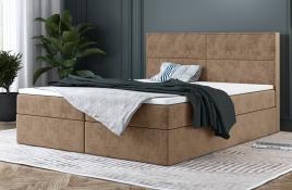 Łóżko kontynentalne AVESTA beżowe monolith