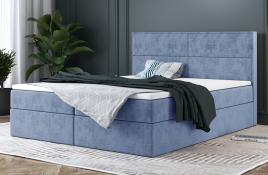 Łóżko kontynentalne AVESTA niebieski monolith