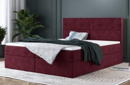Łóżko kontynentalne AVESTA czerwone monolith
