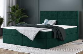Łóżko kontynentalne AVESTA zielone monolith