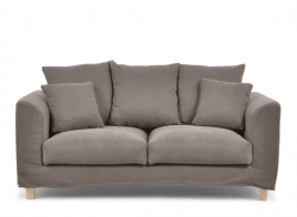 Sofa dwuosobowa BALI brązowy