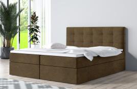 Łóżko kontynentalne ASKIM beżowe casablanca