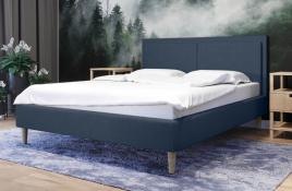 Łóżko tapicerowane BRAGA granatowe sawana