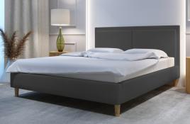 Łóżko tapicerowane BRAGA szare monolith