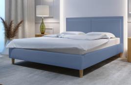Łóżko tapicerowane BRAGA niebieskie monolith
