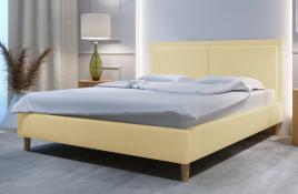 Łóżko tapicerowane BRAGA ecru monolith