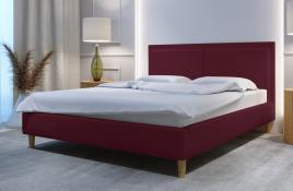 Łóżko tapicerowane BRAGA czerwone monolith