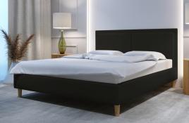 Łóżko tapicerowane BRAGA ciemnoszare monolith