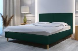 Łóżko tapicerowane BRAGA zielone monolith