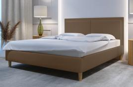Łóżko tapicerowane BRAGA beżowe monolith