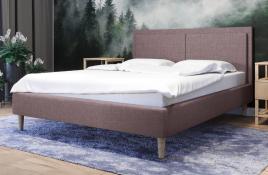 Łóżko tapicerowane BRAGA czerwone sawana