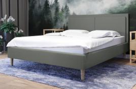 Łóżko tapicerowane BRAGA zielone sawana