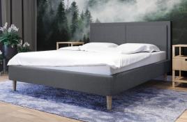 Łóżko tapicerowane BRAGA szare sawana