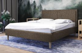 Łóżko tapicerowane BRAGA beżowe sawana