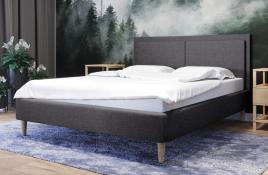 Łóżko tapicerowane BRAGA ciemnoszare sawana