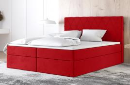 Łóżko kontynentalne ATIMA czerwone casablanca