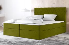 Łóżko kontynentalne ATIMA zielone casablanca