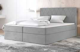 Łóżko kontynentalne ATIMA szare casablanca