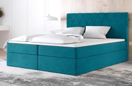 Łóżko kontynentalne ATIMA niebieskie casablanca
