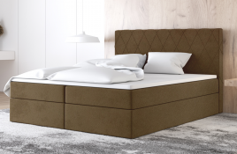 Łóżko kontynentalne ATIMA beżowe casablanca