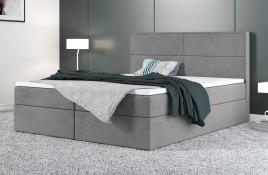 Łóżko kontynentalne AVESTA szare casablanca