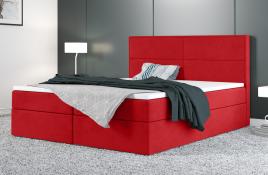 Łóżko kontynentalne AVESTA czerwone casablanca