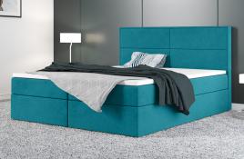 Łóżko kontynentalne AVESTA niebieskie casablanca
