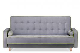 Sofa trzyosobowa FLORENCE szary/zielony