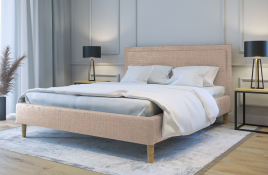 Łóżko tapicerowane HORTEN ecru sawana