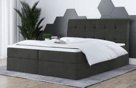 Łóżko kontynentalne HAMAR ciemnoszare casablanca